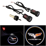 C6 Corvette 2005-2013 LED Projector Lights - Cross Flags & Lettering