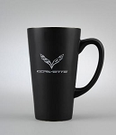 C7 Corvette 2014+ Crossed Flags Logo Tall Coffee Mug