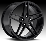 C6 Corvette 2005-2013 Z06 Style Gloss Black Wheel Set 18x8.5/19x10