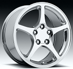 C4 Corvette 1988-1996 C5 Corvette 2000 Style Chrome Wheel Set 17x8.5/18x9.5
