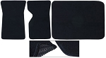 C3 Corvette 1968-1982 Basic Black Floor & Cargo Mat Package