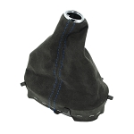 Corvette C6 Suede Carbon/Centennial Edition Shift Boot - 4 Stitching Color Choices
