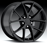 C4 C5 Corvette 1988-2004 Gloss Black Spyder Z06 Style Wheels Set Of Four 18x8.5/19x10