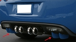C6 Corvette 2005-2013 Rear Fascia Diffuser Winglets - Custom Painted
