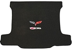 C6 Corvette Lloyds Z06 & Crossed Flags Velourtex Cargo Mat