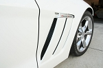 C6 Corvette Grand Sport 2010-2013 Black Powder-Coated Side Vent Screens