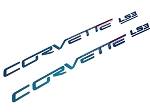 C6 Corvette 2005-2013 Custom Painted Body Colored Fuel Rail Lettering - LS2 / LS3 / LS7