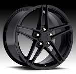 C4 C5 Corvette 1988-2004 C6 Z06 Style Wheel Set - Gloss Black 17x8.5/18x9.5