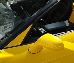 C6 Corvette 2005-2013 Custom Painted A-Pillar Overlays - Color-Match Options