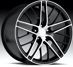 C4 C5 Corvette 1988-2004 C6 ZR1 Style Wheel Set - Machined Finish 18x8.5/19x10