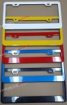 C6 C7 Corvette 2005-2019 Color Matched Painted License Plate Frames - All Colors!