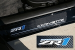 C6 Corvette 2009-2013 Door Sill Guards Carbon Fiber - ZR1 Logo