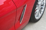 Corvette C6 Laser Mesh Polished Stainless Side Grilles