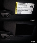 C7 Corvette Stingray/Z06/Grand Sport 2014+ Airbag Warning Cover Overlays W/ Emblem Selection - (Pair)
