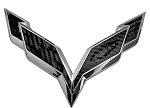 C7 Corvette Stingray/Z06/Grand Sport 2014+ Front/Rear Flag Emblem Overlay Sets - 13 Color Options