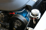 C6 2009-2012 Corvette Custom Painted ZR1 Perforated Power Steering Cover