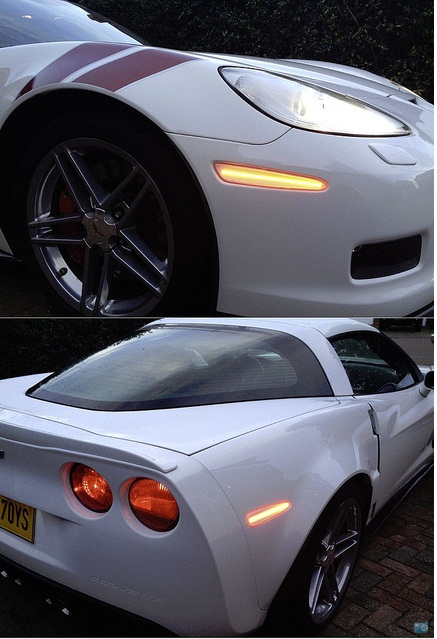 C6 Corvette 2005-2013 LED Side Marker Replacements - Full ...