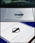 C4 Corvette 1993 & 1996 Special Edition Fuel Door Emblems - 2 Options