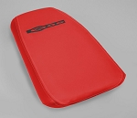 C5 Corvette Z06 2001-2004 Embroidered Console Cushion Lid Assembly - Torch Red -  Leather