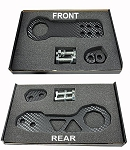 C5 C6 C7 Corvette 1997-2014+ Billet Aluminum Carbon Fiber Style Front & Rear Racing Tow Hook Set - Rated at 5,000lbs