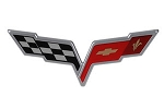 C6 Corvette 2005-2013 Crossed Flags Emblem