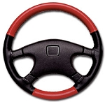 C4 Corvette 1984-1996 Leather Steering Wheel Covers - Two-Tone Color Options