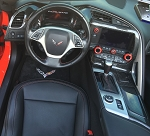 C7 Corvette Stingray/Z06/Grand Sport 2014-2019 Real Carbon Fiber Interior Dash Replacement