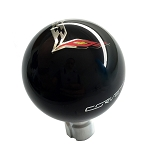 C7 Corvette Stingray/Z06/Grand Sport 2014+ Crossed Flags Shift Knob - W/ Corvette Script