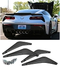 C7 Corvette Stingray/Z06/Grand Sport 2014+ Unpainted Rear Diffuser Fins - Four
