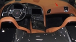 C7 Corvette Stingray/Z06/Grand Sport 2014+ GM RH Leather Passenger Dash Panel Insert-Kalahari