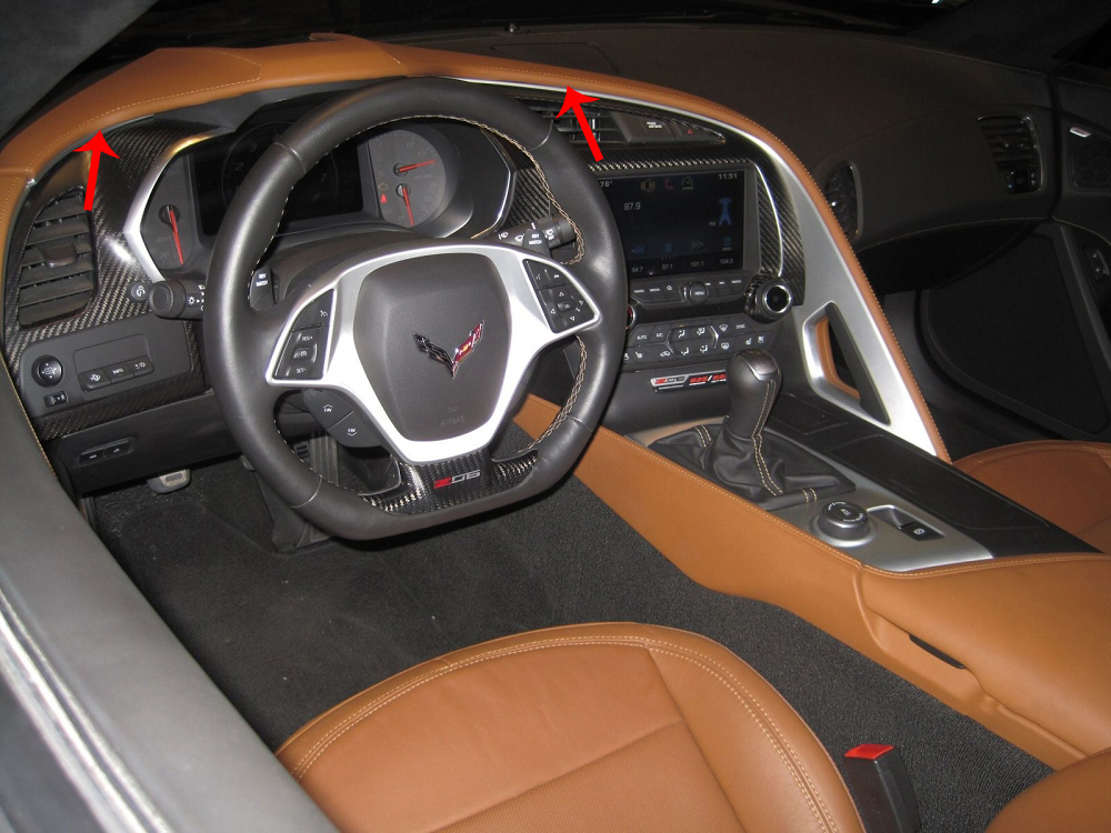 C7 Corvette Stingray/Z06/Grand Sport 2014+ GM Leather Dash ...