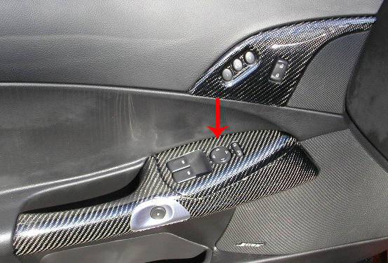 C6 Corvette 2005 2013 Hydro Carbon Fiber Small Window Door