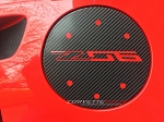 C7 Corvette Stingray/Z06/Grand Sport 2014+ Vinyl Gas Door Overlay - Solid Colors / Carbon Fiber