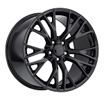 C7 Corvette Gloss Black OEM Style Z06 Wheels - Fitment For C6 2005-2013 18x8.5 / 19x10