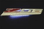 C7 Corvette Z06 2015+ Custom Painted LED Side Fender Emblem Lighting Effects - Pair