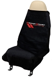 C6 Corvette GRAND SPORT Logo 2005-2013 Seat Armour Seat Cover Towels - Black