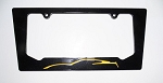C7 Corvette 2014+ Color Matched Silhouette Rear License Plate Frame - Aluminum