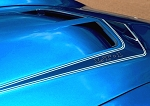 C3 Corvette 1970-1972 LT-1 Hood Vinyl Outline Decal - Pair