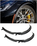 C7 Corvette Stingray/Z06/Grand Sport 2015+ Carbon Fiber Front Fender Extensions - Wheel Trim Moldings - 2Pc