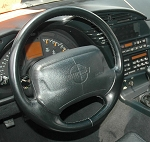 C4 Corvette 1990-1996 Reproduction Black Leather Steering Wheel