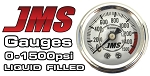 JMS Performance 0-1500 PSI Nitrous Pressure Gauge - White