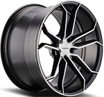 C6 C7 Corvette 2006-2014+ Gloss Black Machined Face Varro Wheels Style 2 - 19x10 / 20x12