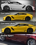 C7 Corvette Stingray/Z06/Grand Sport 2014+ Side Lettering Decal - Script Selection - Pair