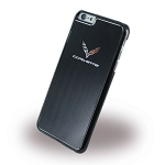 C7 Corvette Stingray/Z06/Grand Sport 2014-2019 Metallic Painted Finish Hard Phone Case w/ Crossed Flags - iPhone 6/6 Plus