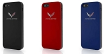C7 Corvette Stingray/Z06/Grand Sport 2014+ Colored TPU Phone Case w/ Crossed Flags - iPhone 6 / 6 Plus