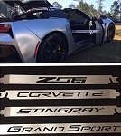 C7 Corvette Stingray/Z06/Grand Sport/GS 2014+ Car Show Billet Aluminum Props  - Cut Out Script