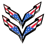 C7 Corvette Stingray/Z06/Grand Sport 2014-2019 USA Flag Emblem Overlay Decal