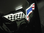 C6 Corvette 2005-2013 USA Flag Emblem Overlay Decal