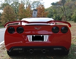 C6 Corvette 2005-2013 Custom Painted FRP Lifted Rear Wing Spoiler