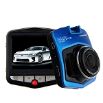 Full HD 1080P Wide Car DVR Dashcam - Blue - 150 Degree Angle - Loop Recording
